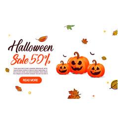 halloween sale offer design template vector image vector image