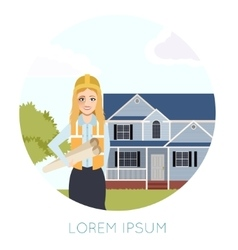 Home building banner3 vector image vector image