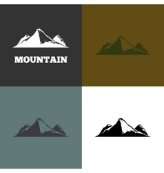 mountain silhouette vector image vector image