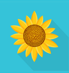 sunny plant icon flat style vector image