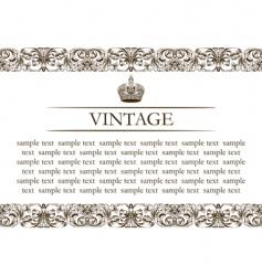 vintage frame decor line vector image
