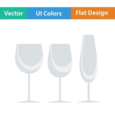 Flat design icon of glasses set vector image vector image