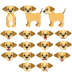 Funny dogs expressing emotions big set vector image