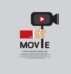Movie Maker EPS10 vector image vector image