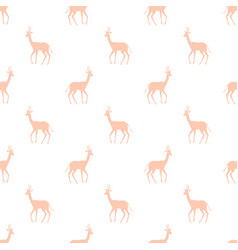 seamless pattern with colorful antelope vector image vector image