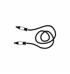 Skipping rope icon simple style vector image