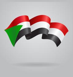 Sudanese waving Flag vector image vector image