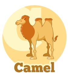 ABC Cartoon Camel2 vector image