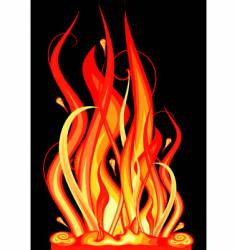 Abstract flames vector