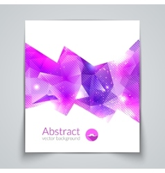 Abstract triangular 3D geometric colorful vector image