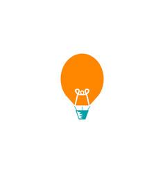 air balloon and light bulb logo design vector image