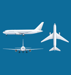 Airplane on blue background industrial blueprint vector