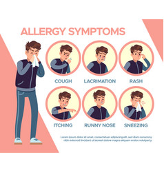 Allergy symptoms healthcare problems sickness vector