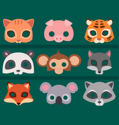 Animals carnival mask banner festival vector