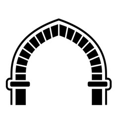 antique arch icon simple style vector image