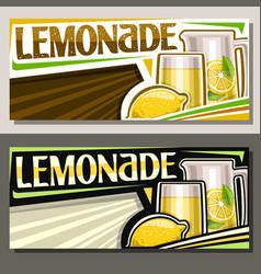 Banners lemonade vector
