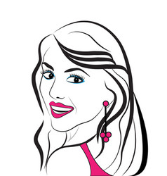 beautiful lady portrait vector image