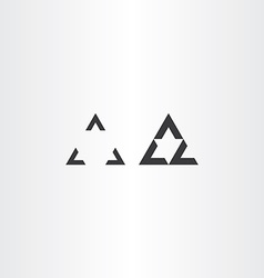 black oprical triangle design vector image