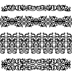 black silhouette pattern ornament vector image