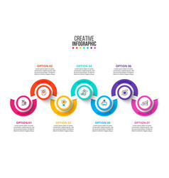 business data visualization abstract diagram vector image