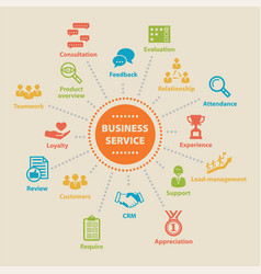 Business service concept with icons vector