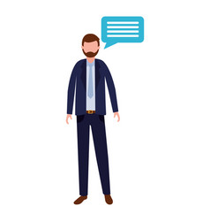 businessman speech bubble vector image