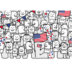 cartoon people - american national day vector image