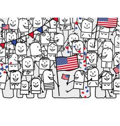 Cartoon people - american national day vector