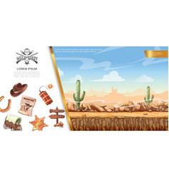 cartoon wild west concept vector image