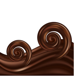 chocolate wavy swirl background abstract satin vector image