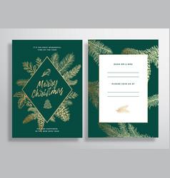 christmas abstract frame greeting card vector image