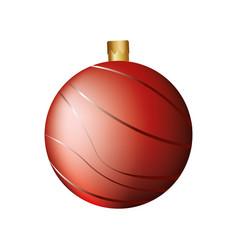 christmas ball decorative icon vector image