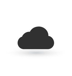 clouds icons black flat design vector image