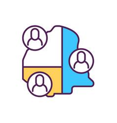 Community rgb color icon vector