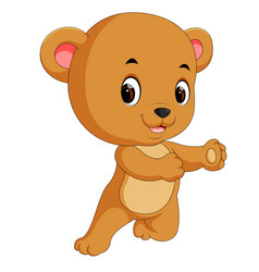cute bear cartoon vector image