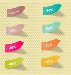 Discount coupons icon set offer price vector