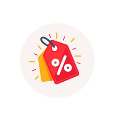 discount offer tag icon shopping coupon symbol vector image