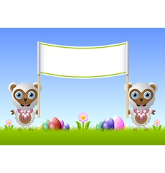 Easter sheeps vector