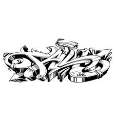 fall graffiti wild style vector image