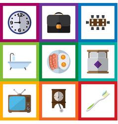 Flat icon oneday set of briefcase boardroom vector