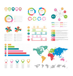 flat infographic elements presentation chart vector image