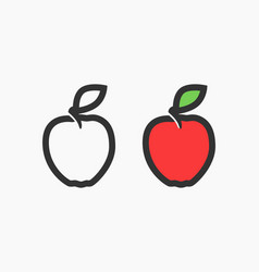 flat logo of red apple vector image