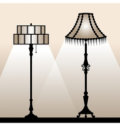 Floor lamps vector image
