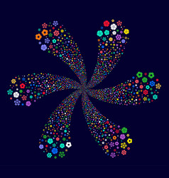 flower cyclonic abstract flower vector image