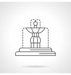 Fountain sculpture flat line icon vector image