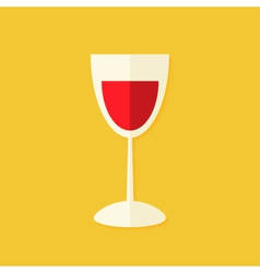 Glass of wine Christmas Flat Icon vector