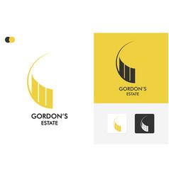 Gordons estate logo template design vector