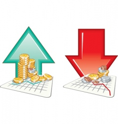 graph finance vector image