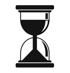 Hypnosis hourglass icon simple style vector
