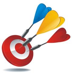 icon target darts vector image